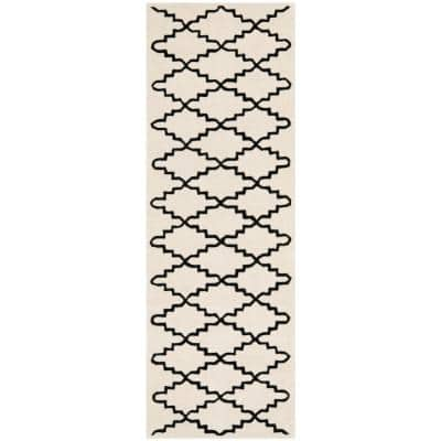 Chatham Ivory/Black 2 ft. x 7 ft. Runner Rug