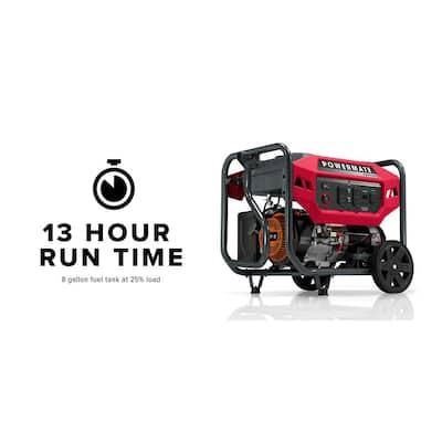 PM9400E 7500 Running Watt Electric-Start Gasoline Powered Portable Generator, 50 ST/CSA