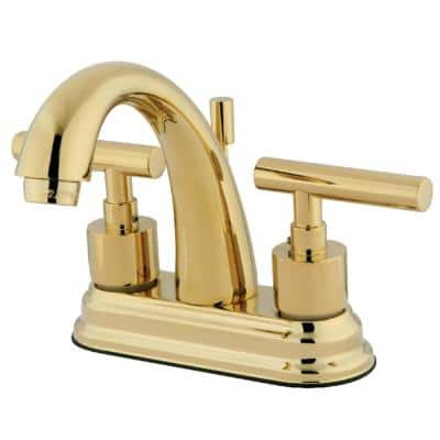 Manhattan 4 in. Centerset 2-Handle Bathroom Faucet in Polished Brass
