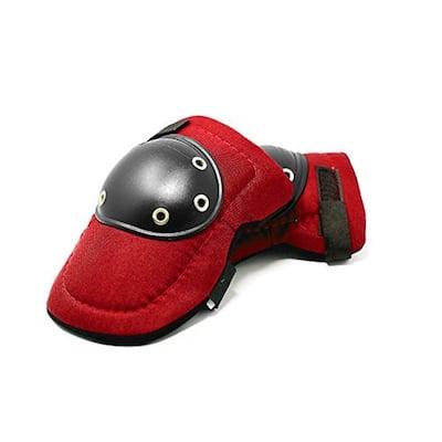 Tough Cap Thick Foam Padding, Adjustable Elastic Straps (RED)