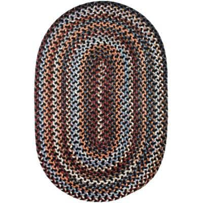 Annie Black Rock 8 ft. x 11 ft. Oval Indoor Braided Area Rug