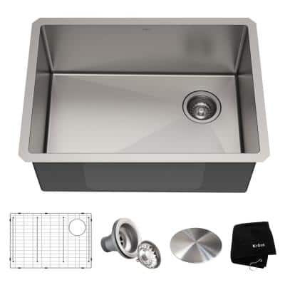 Standart PRO Undermount Stainless Steel 25 in. Single Bowl Kitchen Sink