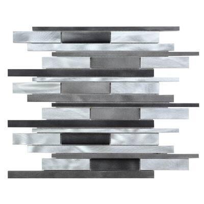 CHENX 12.20 in. x 15.35 in. x 8 mm Aluminum Metal Backsplash in Gray (14.31 sq. ft. / case)
