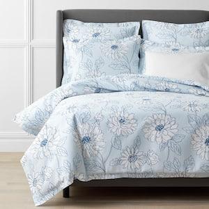 Legends Hotel Dahlia Bloom Multicolored Floral Twin Cotton & TENCEL Lyocell Duvet Cover