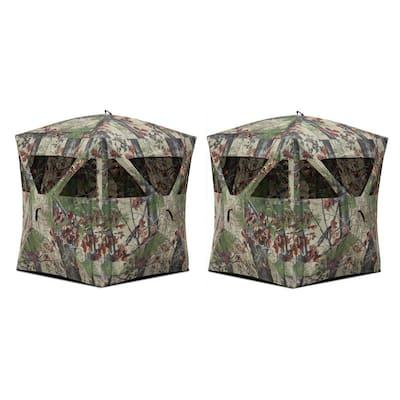 Radar Backwood Lightweight Pop Up Hunting Ground Blind (2-Pack)
