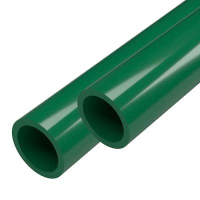 1-1/4 in. x 5 ft. Green Furniture Grade Schedule 40 PVC Pipe (2-Pack)