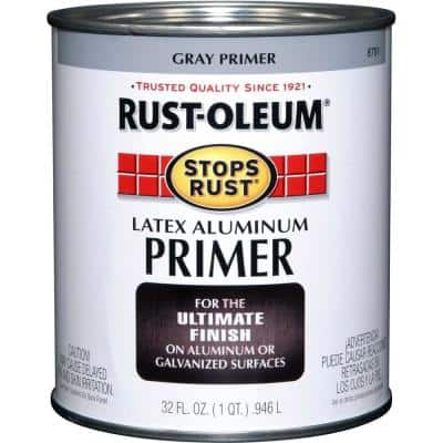1 qt. Flat Gray Latex Aluminum Primer (2-Pack)