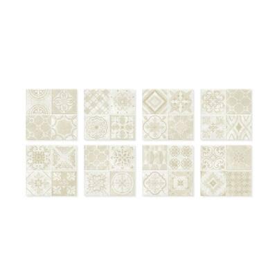 Vintage Venezia 9 in. W x 9 in. H Peel and Stick Self-Adhesive Decorative Mosaic Wall Tile Backsplash (4-Pack)