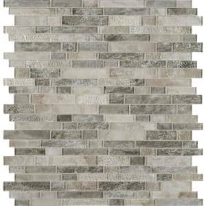 Savoy Interlocking 12 in. x 12 in. x 8mm Glass Mesh-Mounted Mosaic Tile (10 sq. ft. / case)