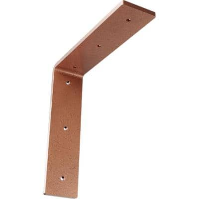 8 in. x 2 in. x 8 in. Steel Hammered Copper Hamilton Bracket