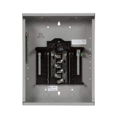 SN Series 100 Amp 12-Space 24-Circuit Main Breaker Plug-On Neutral Indoor Load Center