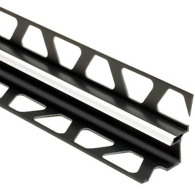 Dilex-EKE Bright White 3/8 in. x 8 ft. 2-1/2 in. PVC Corner Movement Joint Tile Edging Trim
