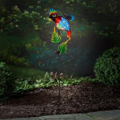 Parrot 36 in. Solar Garden Stake