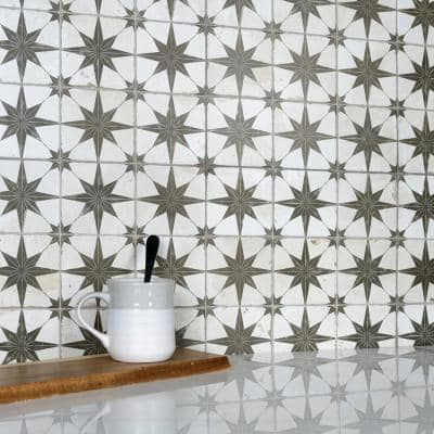 Harmonia Kings Star Nero 13 in. x 13 in. Ceramic Floor and Wall Tile (12.19 sq. ft./Case)