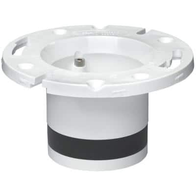 4 in. PVC Open Toilet Flange Replacement