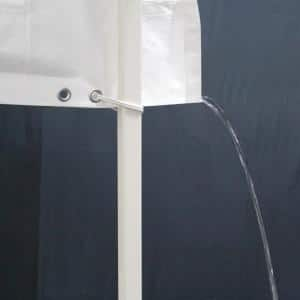 10 ft. Rain Gutter with 10 White Ball Bungees
