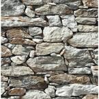 Stone Wall Gray Vinyl Peelable Roll (Covers 30.75 sq. ft.)