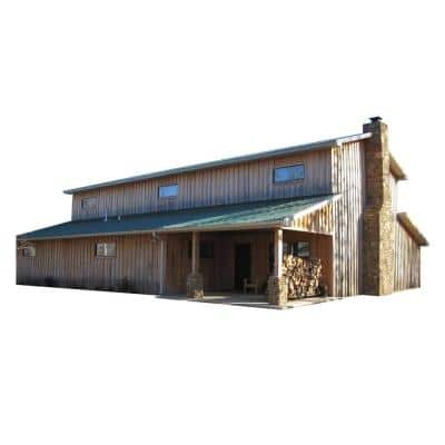 48 ft. x 60 ft. x 20 ft. Wood Garage Kit without Floor