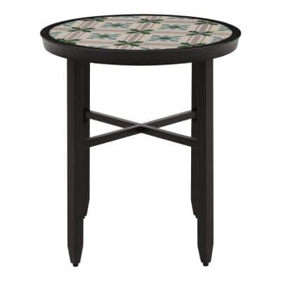 Ellington Round Steel Outdoor Bistro Table
