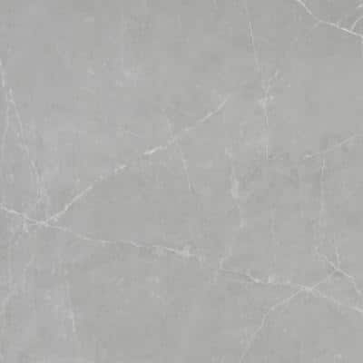 Sterlina Gray 23.62 in. x 23.62 in. Matte Marble Look Porcelain Floor and Wall Tile (15.5 sq. ft./Case)