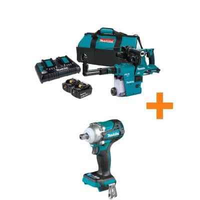 18V X2 (36V) LXT Brushless 1-1/8 in. AVT Rotary Hammer Kit, SDS-PLUS (5.0Ah) with bonus 18V LXT Brushless Impact Wrench