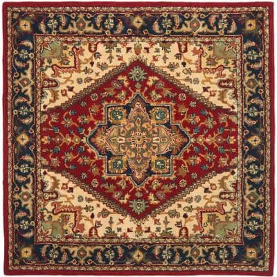 Heritage Red 6 ft. x 6 ft. Square Area Rug
