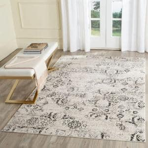 Artifact Charcoal/Cream 9 ft. x 12 ft. Floral Area Rug