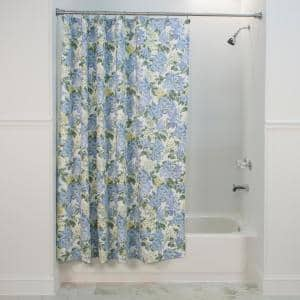 Hydrangea 72 in. Blue Shower Curtain