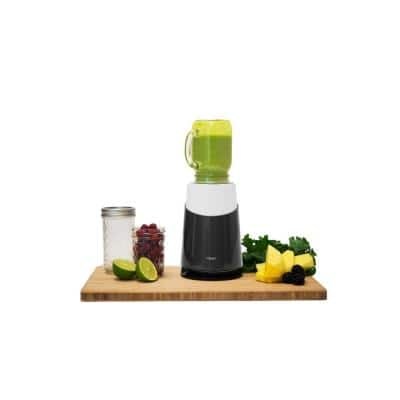 Mason Jar Ready Personal Blender 24 oz. 1-Speed White 2-with Mason Jar Blending Mug