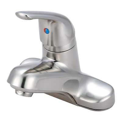 Elite 4 in. Centerset Single-Handle Bathroom Faucet in Brushed Nickel