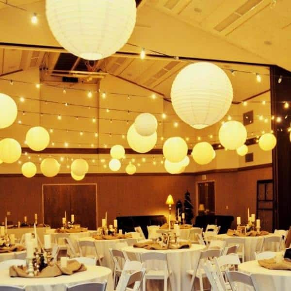 """10 pcs 10/"""" inch Chinese Paper Lantern White Wedding Party Event px"""