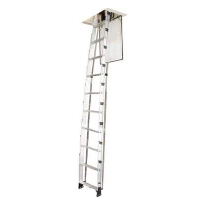 7 ft. to 10 ft., 250 lbs. Not Rated Aluminum Attic Ladder
