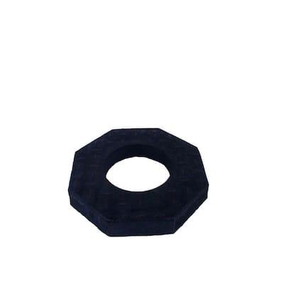 15 lb. Black Rubber Stackable Channelize Base