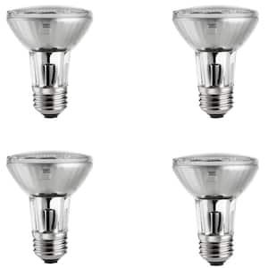 39-Watt Equivalent Halogen PAR20 Dimmable Flood Light Bulb (4-Pack)
