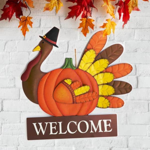 Glitzhome 30 00 In H Thanksgiving, Outdoor Turkey Decorations