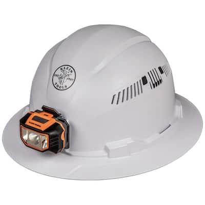 Vented Full Brim with Headlamp Hard Hat