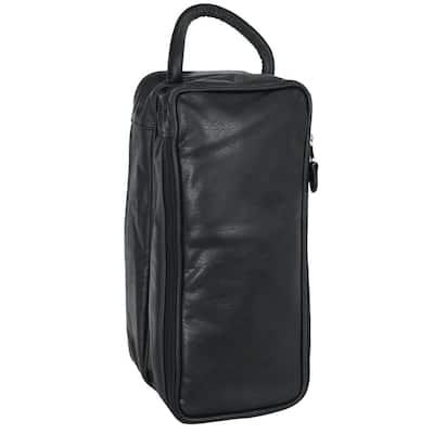 Black Shoe Bag Faux Leather