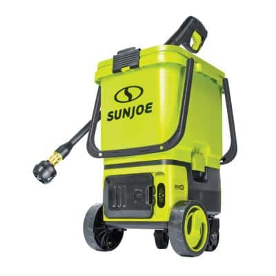 48V 1196 PSI Maximum 1 GPM Cold Water Cordless Portable Electric Pressure Washer Kit w/2 x 4.0 Ah Batteries Plus Charger
