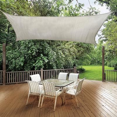8 ft. x 12 ft. Almond Rectangle Shade Sail