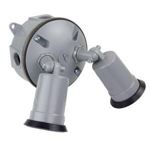 Gray Outdoor Flood Light Weatherproof Lampholder Kit
