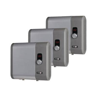 18kW/240-Volt 3.7 GPM Electric Tankless Water Heater Ideal for 1 Bedroom Home up to 3 Simultaneous Applications (3-Pack)