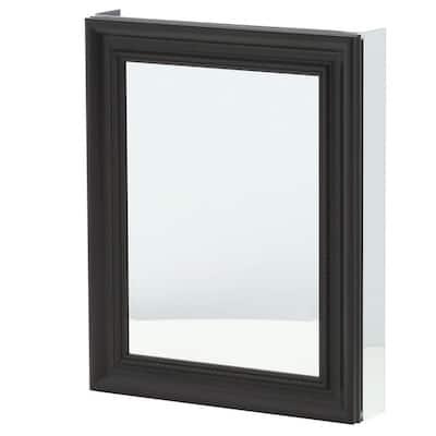24 in. x 30 in. Framed Recessed or Surface-Mount Bathroom Medicine Cabinet in Espresso