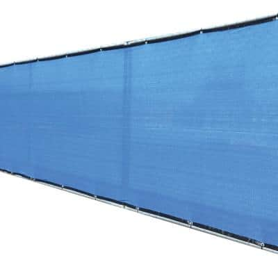 68 in. x 50 ft. Blue Privacy Fence Screen Plastic Netting Mesh Fabric Cover with Reinforced Grommets for Garden Fence