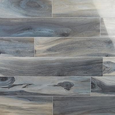 Rio Tiger Blue 8 in. x 48 in. Polished Porcelain Floor and Wall Tile ( 15.49 sq. ft.)