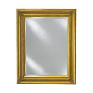 Vanderbilt Framed Baroque Gold 28 in. x 34 in. Single Door Recessed or Optional Surface Mount Medicine Cabinet