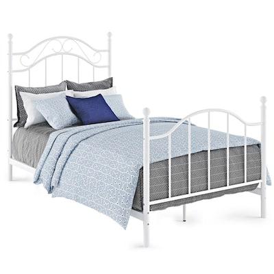 Rima White Twin Metal Bed