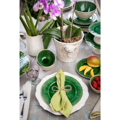 4-Piece Contemporary Ivory Ceramic Dinnerware Set (Service for 4)
