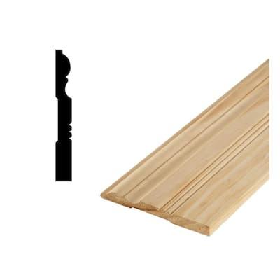 DM 650 - 11/16 in. x 6-5/8 in. Solid Pine Base Moulding