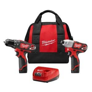 M12 12-Volt Lithium-Ion Cordless Hammer Drill/Impact Driver Combo Kit (2-Tool) with (2) 1.5Ah Batteries, Charger & Bag