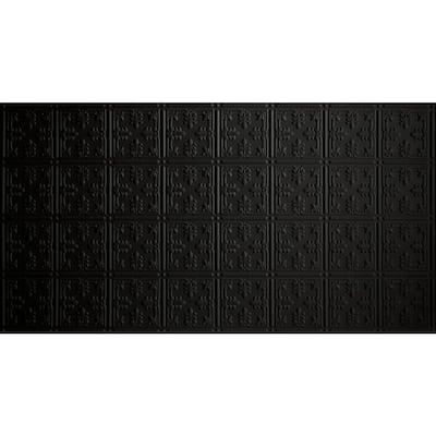 2 ft. x 4 ft. Glue Up Tin Ceiling Tile in Matte Black